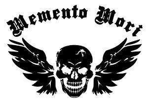 Flying Skull - Memento Mori / Remember Death, Sticker for Motorbike, Helmet, Car