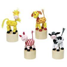 Drückfiguren Wackeltiere 4 Stück Hund, Pferd, Kuh, Schwein