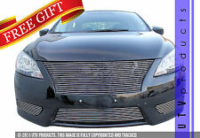 GTG Polished 4PC Custom Billet Grille Grill Kit fits 2013 - 2015 Nissan Sentra