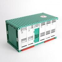 Bruder Vieh Container grün weiß für z.B. MAN 02749 Scania 03549 03581 42752
