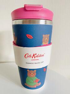 CATH KIDSTON BAMBOO WOODLAND BEAR INSULATED REUSABLE TRAVEL COFFEE MUG-400ML