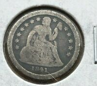 1841-0 Seated Liberty Dime - VERY FINE