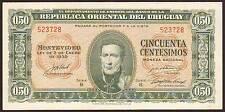 URUGUAY  50 Centesimos  1939  UNC