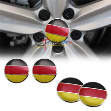 4pcs Euro Germany Flag Style Aluminum Car Wheel Center Hub Caps Emblems Sticker