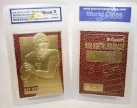 BEN ROETHLISBERGER PITTSBURGH STEELERS AUTOGRAPHED WCG GEM-MT 10 23KT GOLD CARD!
