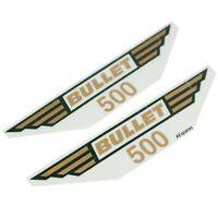 Tool Box Sticker Decal Emblem Set Golden Fits Royal Enfield Bullet 500cc AUD