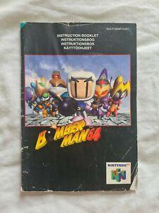 BOMBERMAN 64 Nintendo 64 N64 PAL version original manual Bomber Man