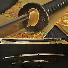 Oil Tempered Handforged Katana Japanese Samurai Sword DAMASCUS Steel Blade Sharp