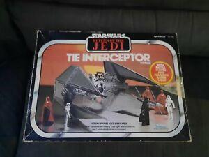 Vintage Star Wars  Tie Interceptor  1983 Boxed unused Kenner ship