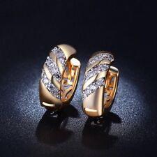 18K real gold filled hoop boucles d'oreilles 18X18 mm fait avec cristaux swarovski GF6