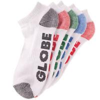 Globe Socks 5 Pack Marle Ankle Asst Size 7-11 New Skateboard Sox