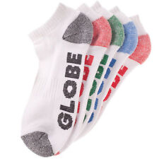 Globe Socks 5 Pack Marle Ankle Asst Size 7-11 New Skateboard Sox