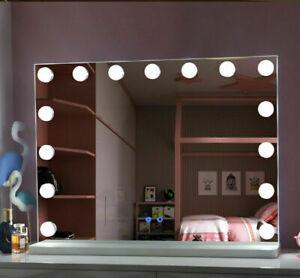 15 LED Light Bulb Hollywood Mirror Vanity Makeup Dress-up Frame Extra Large