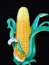 THANKSGIVING FALL SCARECROW FARM VEGETABLE EAR OF CORN CROP PIN BROOCH JEWELRY
