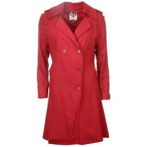 Lee Cooper Trench Coat Ladies Beige, Red, Brown & Purple Same Day Dispatch