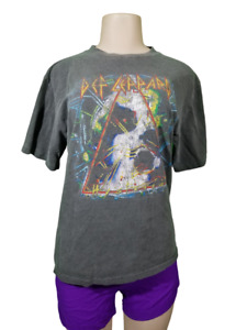 VTG Def Leppard Hysteria Faded Graphic T Shirt Size Small 90s