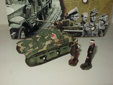 KING & COUNTRY WW2  FRENCH TANK WITH FIGURES RARE FOB037