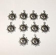 10pcs soleil argent tibétain charmes Pagan/Celtic