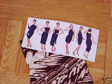 Norma Kamali Women's All In One Straw Print Dress Size 3X  22W-24W
