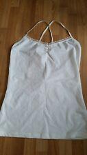 H&M Divided Ladies Cream Cotton/Spandex Vest Top Size 16-BNWT