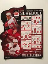 NHL 2017-2018 DETROIT RED WINGS MAGNETIC SCHEDULE #40 ZETTERBERG #71 LARKIN NEW