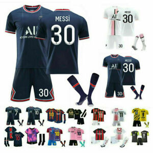 21/22 Kids Adults Football Full Kits Boys Soccer Training Suits Custom Jersey *