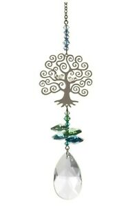 Tree of Life Crystal rainbow maker car window hanging suncatcher