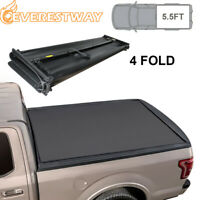 Soft Truck Bed Tonneau Cover 5.8'' 4-Fold for 2014-18 Chevy Silverado GMC Sierra