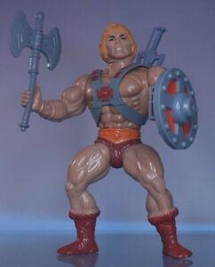 Vintage He Man MOTU figure HE-MAN 1981 Masters of the Universe Complete RARE 8 !