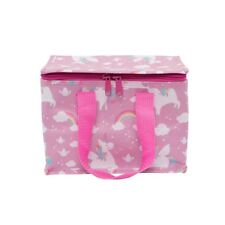 Sass & Belle Rainbow Unicorn Insulated Pink Lunch Bag School Packed Picnic Girls