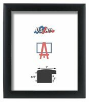 "US ART Frames 1"" Black Nugget Satin Real Poplar Wood Picture Poster Frame S-Lot"