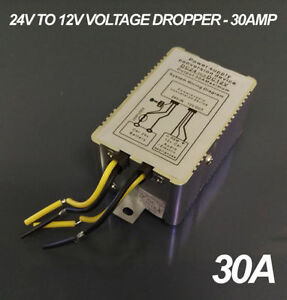 24v To 12v DC Step Down Voltage Reducer 30A Max Current - Truck - Lorry