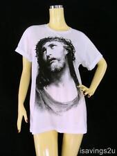 JESUS CHRIST T-shirt, Religious ICON God Rock Punk, COTTON S M & L White Unisex