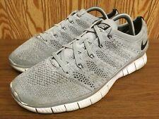 Nike Free Run Flyknit Nsw Wolf Grey Men's Running Shoes Size 9 Us 5.0