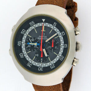 Omega Flightmaster Manual Wind Chronograph Vintage Stainless Steel 145.036 Watch
