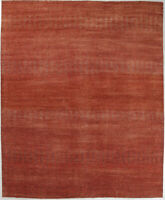 12X15 Hand-Knotted Oushak Carpet Traditional Rust Fine Wool Area Rug D57004