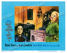 WHAT EVER HAPPENED TO BABY JANE LOBBY CARD # 1 POSTER 1962 DAVIS CRAWFORD FEUD !