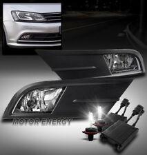 15-17 VOLKSWAGEN JETTA BUMPER DRIVING FOG LIGHT LAMP CHROME W/50W 6K HID+HARNESS