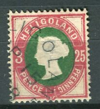 HELIGOLAND; 1870 early classic QV issue fine used 25pf. value