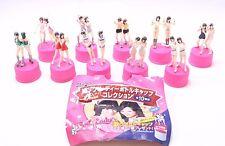 """Pink Lady Bottle Cap Seven Eleven Figure 10PCS Authentic 3"""" Japan A4129"""