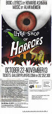 LITTLE SHOP OF HORRORS THE MUSICAL ADVERTISING COLOUR POSTCARD