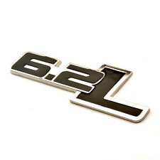 1Pcs Black 6.2L Metal Side Rear Emblem For Car SUV SS Trunk Fender Badge Sticker