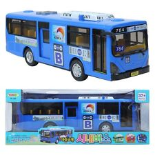 Blue-Transit Bus Korea Seoul Bus Toy Sound Lite full back