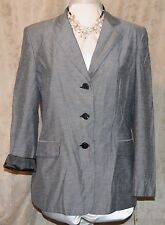 STEPHANIE ANDREWS/CHADWICK'S BOSTON 2 PC SUIT BLAZER & PANTS SET GRAY LINED 14