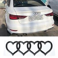 ABS Badge Front Rear Trunk LOVE Decor Hearts Logo Emblem For Audi A3 A4 A6L