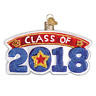 """""""Class of 2018"""" (36221)X Old World Christmas Ornament w/OWC Box"""