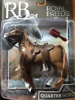 "Lanard Toys Royal Breeds Quarter Horse Figure/Toy 8"" Bay Horse Collectible New"