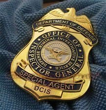 NEW US Department of Defense Cosplay Metal Badge Special Agent DCIS Copper Badge