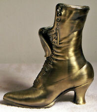 "9 1/2"" High Solid Brass Leonard Ladies Victorian Boot"