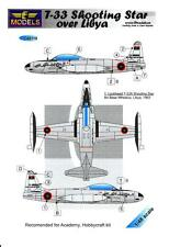 LF Models Decals 1/48 LOCKHEED T-33 SHOOTING STAR Libyan Air Force with Masks